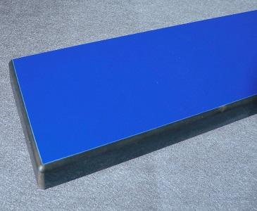 HPL Kompakt Dickplatte mit überfräster Kante