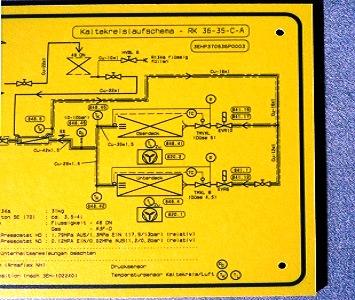 Kompaktplatte als Infoschild mit Digitaldruck