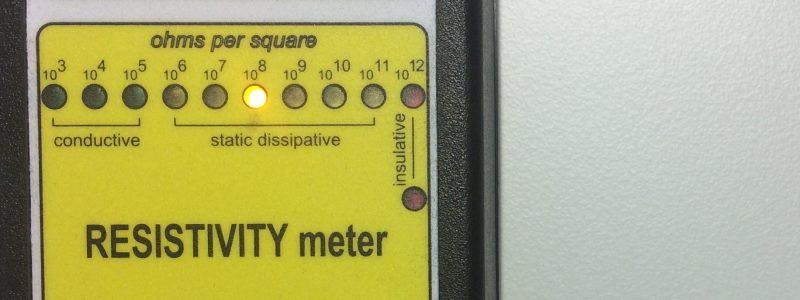 ESA ESD Kompaktplatte Widerstandsmessung während der Produktion