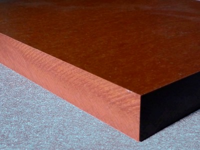 HPL Dickplatte 30mm nur aus Kernpapier im Detail