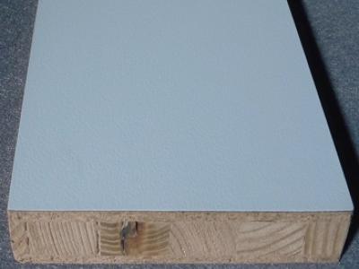 Kunststoff Verbundplatte aus HPL Laminat auf stäbchenverleimter Holzplatte als Träger