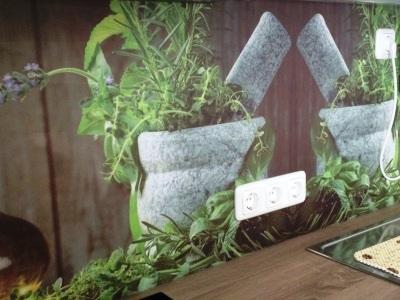 dekorative Kompaktplatte mit Digitaldruck als Küchenrückwand