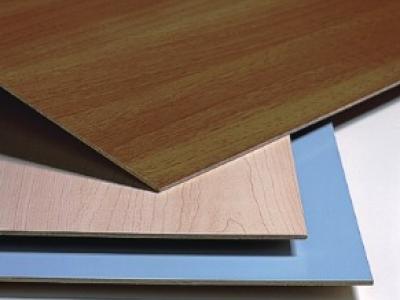 HPL Schichtstoff Laminat auf MDF Trägerplatten als Kunststoff Verbundplatten mit Melaminschicht